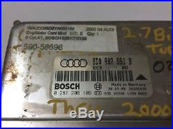 2000 Audi S4 V6,2.7l At Turbo Ecu Ecm Computer Number 8d0 907 551 B