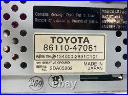 2004-2009 Toyota Prius Dash Display Screen ONLY FITS 86110-47081 (Parts Only)