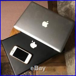 Apple computer lot 1x iPhone 4S 1x Silver Pro 2009 1x Macbook 13 as is parts ++