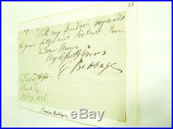 Genuine Charles Babbage Autograph on part letter Vintage Computer History