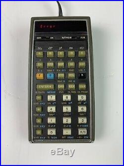 Hewlett Packard HP 67 Calculator Very Good Condition For Parts/Repair (BPJ)