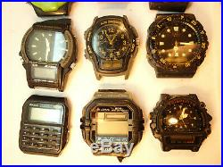 Lot Of Vintage Mostly Casio Watches For Restoration Or Parts Some Running
