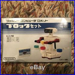 NINTENDO Family computer Famicom robot gyro block set for parts video game used