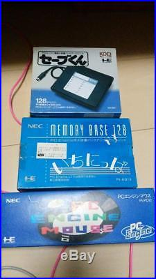 PC Engine Save-kun Itinippa Mouse set Rare computer parts all brand new B01