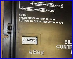 Rowe BC-1200 bill changer control computer, part no. 65069050 Tested Good