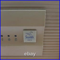 Swan 486V Computer Case with Power Supply CD Rom Parts or Repair