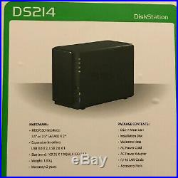 Synology DS214 with 2x 4TB WD Red NAS hard drives Computer Parts