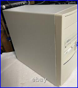 Vintage Beige ATX / AT PC Desktop Mid Tower Computer Case & Insides For Parts