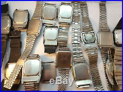 Vintage Casio Calculator Alarm Data Bank Watches For Restoration Or Parts Bands