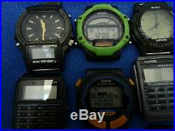 Vintage Casio Multifunction Watches For Restoration Or Parts. Some Running