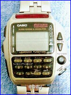 Vintage Lot 4 Casio Watches TV Remote LCD Calculator Wave Ceptor Parts