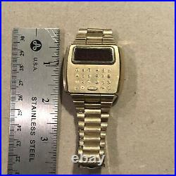 Vintage Pulsar LED Computer Calculator Watch 14k Gold Filled, Parts/Repair