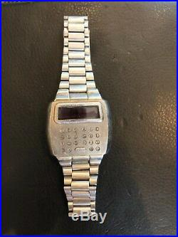 Vintage Pulsar Time Computer Calculator Watch For Parts Or Repair As Is